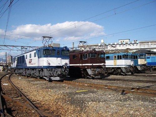 EF64 1000番台4台並び