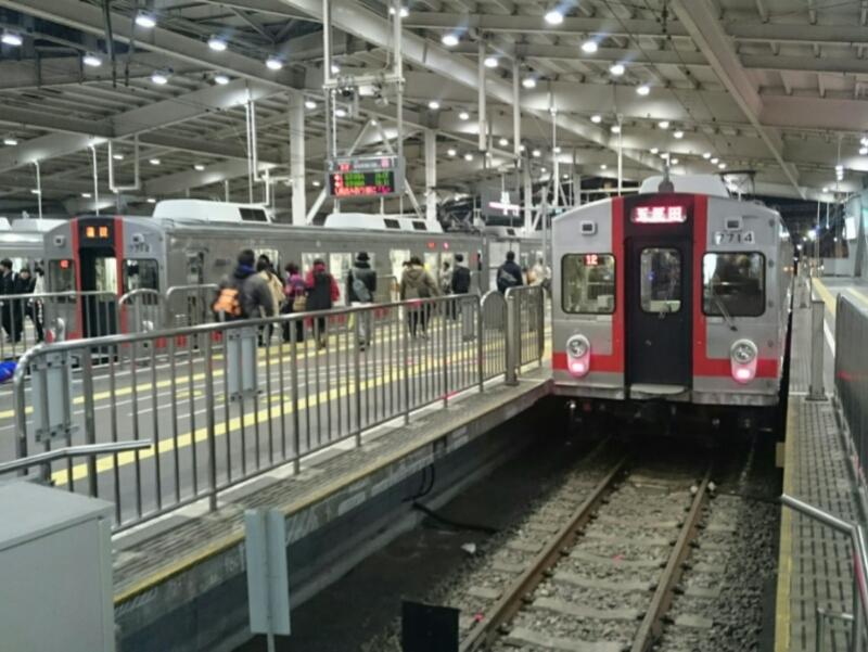 東急蒲田駅にて