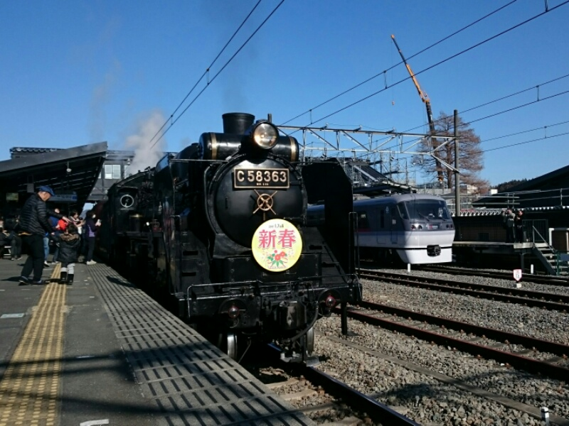 西武秩父駅にパレオエクスプレス入線