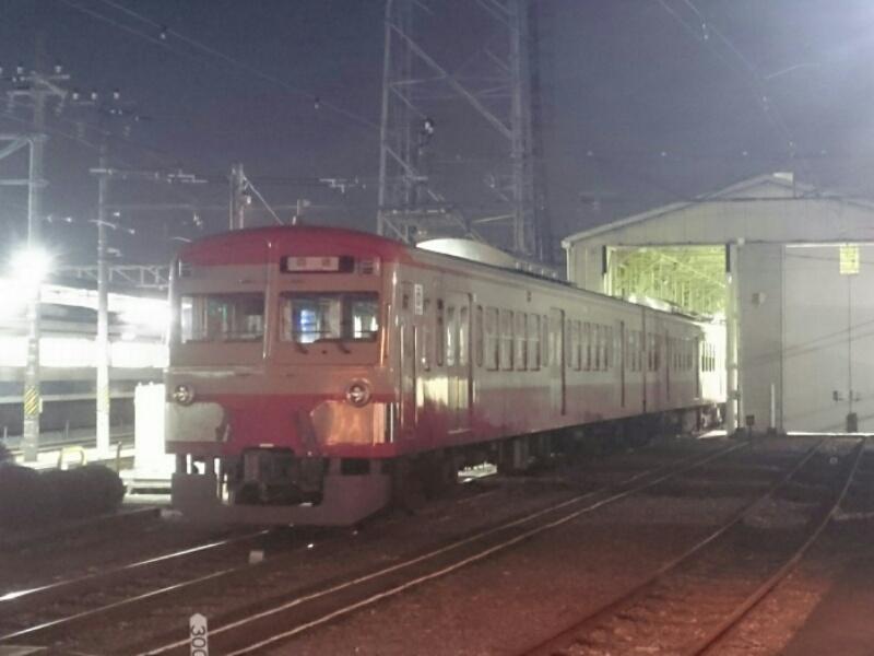 西武多摩川線  101系247F赤電が甲種輸送の準備中